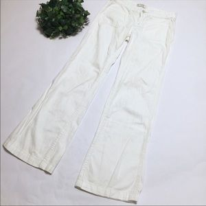 FREE PEOPLE white trouser pants wide leg